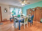 Enjoy home-cooked meals at this lovely dining table.