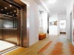 Floor mit direkt Lift Eingang