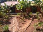 Walkway on the front garden