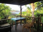 The back lanai is very private and it's great to relax out of the sun and walk down for swims.