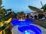 Villa Eva has a children's pool compartment!