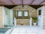 Cottage Outdoor Bathroom