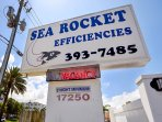 Sea Rocket Sign on Gulf Blvd