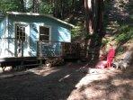 Front of Fernside Cabin (studio 1 bedroom)