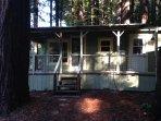 Front door of Creekside Cabin (1 bed 1 bath)