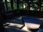 Sunken hot tub for 3.  Gaze under the stars.