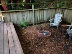 Fire pit or area to add a tent for the kids