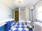 BATHROOM -  Shower, hot press, toilet,