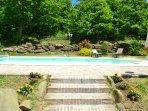 Solarium e piscina