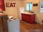 Kitchen with original farmhouse sink