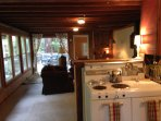 Kitchen to living room Creekside Cabin