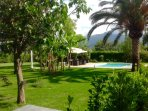 2700 square meter garden with 10m by 5m pool