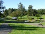 The botanic gardens in Laugardalur (3 min walk)