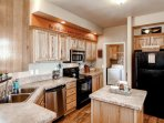 You'll be able to prepare a great meal in this fully-equipped kitchen.