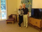 Volker and Gina Bauerle, owners of the Kiahuna Plantation condo