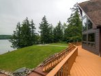 Relax out on the spacious deck and enjoy the sights and sounds of nature