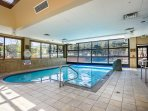 Take a dip in the indoor/outdoor pool.