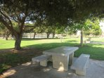 The park next door: sports fields and picnic areas