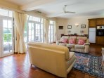 Specious and airy Jacuzzi apartment lounge over looking onto Beachcomber garden and the pool.