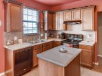 This quaint kitchen comes fully equipped