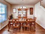 Every meal feels like a special occasion in this dining room!