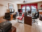The office and gameroom