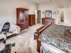 The master bedroom also has a twin-sized bed, perfect for little ones