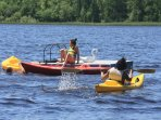 Complimentary kayaks and floating dock.