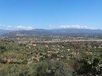 Vistas a las montañas del Valle del Jerte