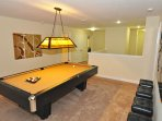 Lounge area with full-size slate pool table (2nd floor)