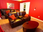 Media room with Large 60' Smart LED TV flat screen, BD Player, Xbox One