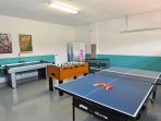 Games room - Air hockey, Foosball and Table-tennis (Ping-Pong)