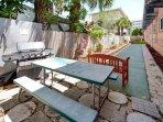 Tropic Breezes BBQ, Picnic & Shuffleboard Area