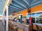 Madeira Beach Snack bar is just across the street