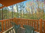 A quiet and secluded luxury cabin just 10 minutes from all the fun!