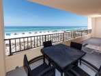 Spacious 30 ft private gulf front balcony