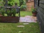 The garden after a bit of rain