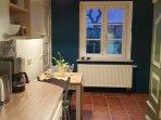 Küche der Ferienwohnung Erdgeschoss