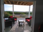 The house has spacious patios & balconies with outdoor seating to enjoy the spectacular views