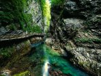 The stunning Vintgar gorge is located a 10-minute drive from the apartment.