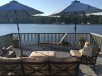 Between the main deck, swimming deck and the boathouse there is seating for 25!  Outdoor delight!