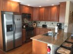 Completed updated kitchen with all the appliances, cutlery, glassware, china and accessories