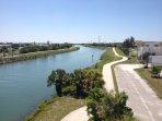 The Venetian Waterways biking trail