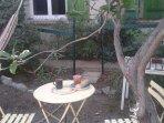 Private garden for intimate Zen Breakfast