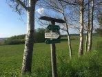 vielfältige Wander-  und Radwege um den schönen Grimnitzsee
