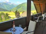 Furnished Balcony with Mountain Views