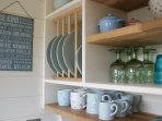 Cutlery, crockery and cooking utensils supplied