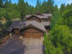 The Pine Canyon Retreat in Flagstaff, Arizona.  Trees, trees and more trees!