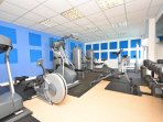 Free use of fully equipped gym (just down the corridor)