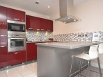 Stylish contemporary kitchen with AEG appliances